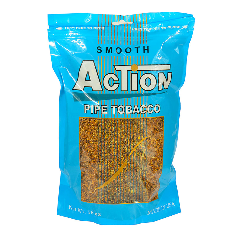 Action Smooth Pipe Tobacco 16 oz. Bag