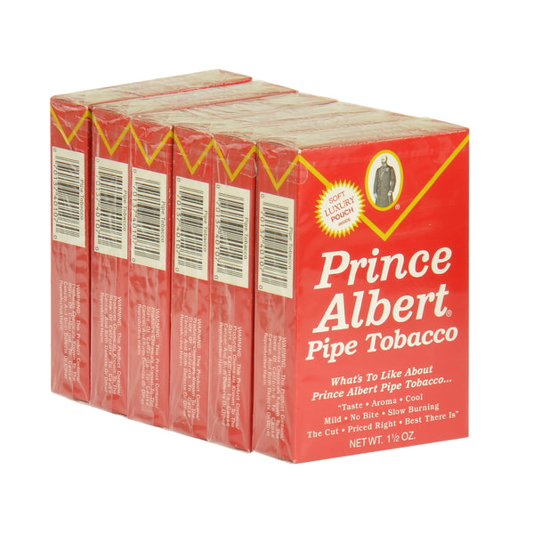Prince Albert Luxury Pipe Tobacco 6 Pockets of 1.5 oz.