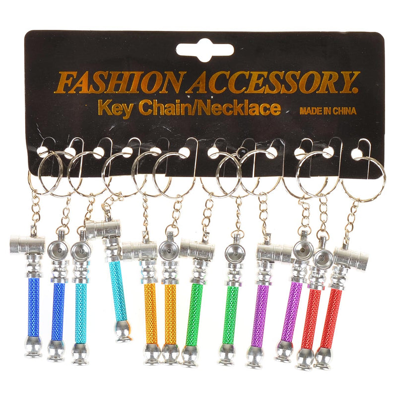 Key Chain Metal Pipe Pack of 12