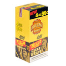 Zig Zag Rillo Size Cigar Wraps 4 for 99 Cents 15 Pouches of 4 Gold