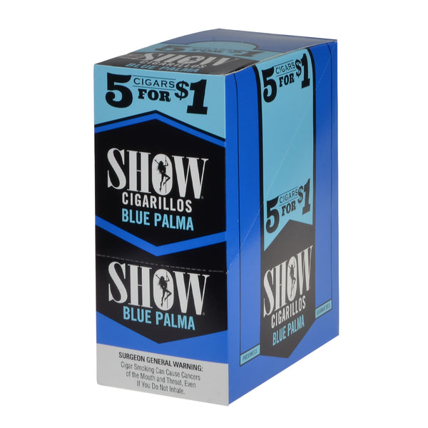 Show Cigarillos Blue Palma Pre Priced 15 Pouches of 5
