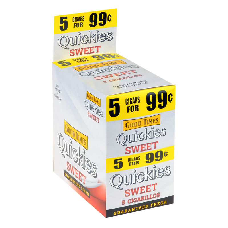 Good Times Quickies Sweet Cigarillos 15 Pouches of 5