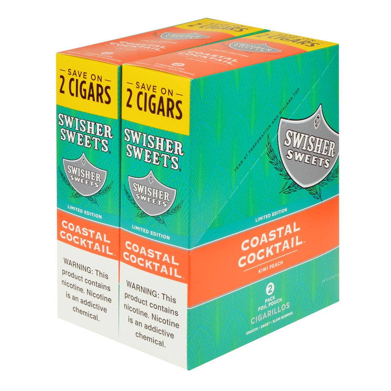 Swisher Sweets Cigarillos 30 Packs of 2 Cigars Coastal Cocktail