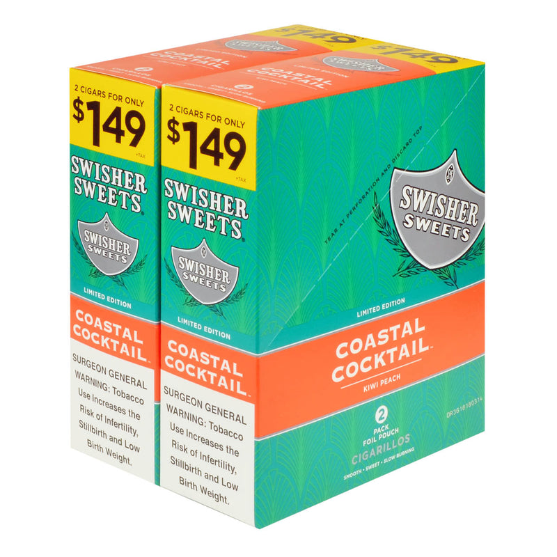 Swisher Sweets Cigarillos 1.49 Pre Priced 30 Pouches of 2 Coastal Cocktail