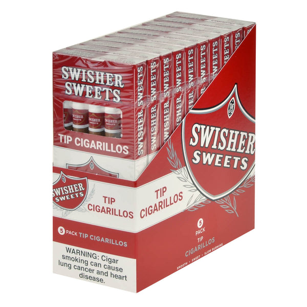 Swisher Sweets Regular Tip Cigarillos 10 Packs of 5 Cigars