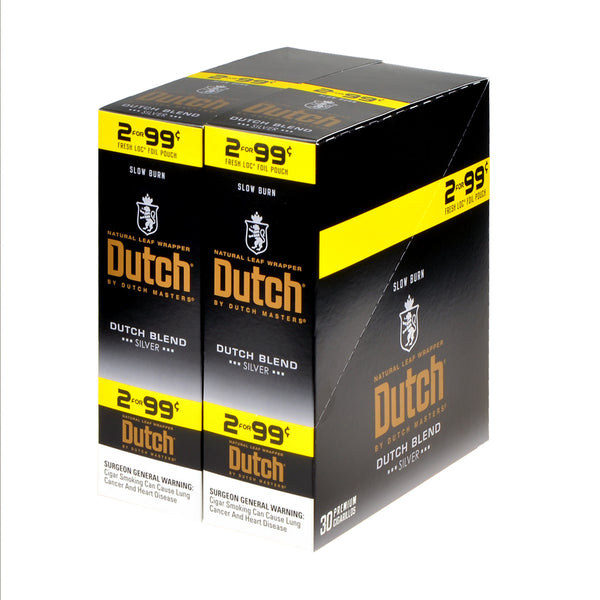 Dutch Masters Foil Fresh Blend Silver 99 Cent Cigarillos 30 Packs of 2
