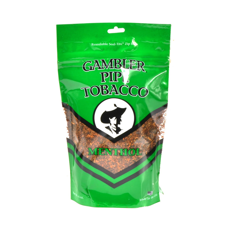 Gambler Pipe Tobacco Menthol (Mint) 6 oz. Bag