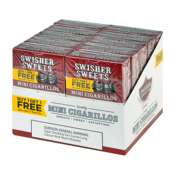 Swisher Sweets Mini Cigarillos 20 Packs of 6 Cigars B1G1 Sweet