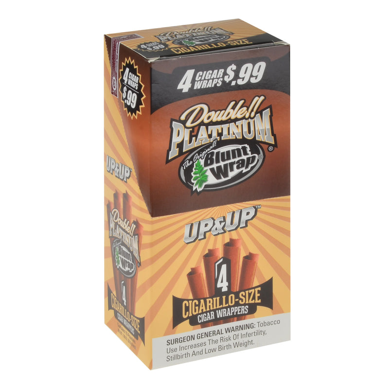 Double Platinum 4x99 Up&Up Blunt Wraps 15 Pouches of 4