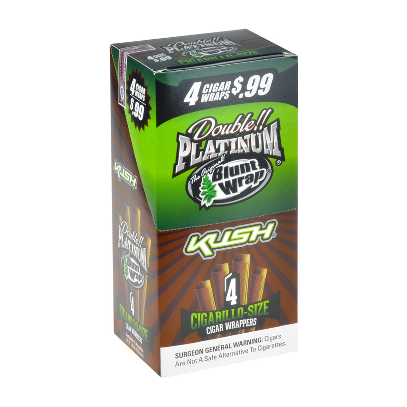 Double Platinum 4x99 Kush Blunt Wraps 15 Pouches of 4