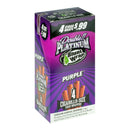 Double Platinum 4x99 Purple Blunt Wraps 15 Pouches of 4