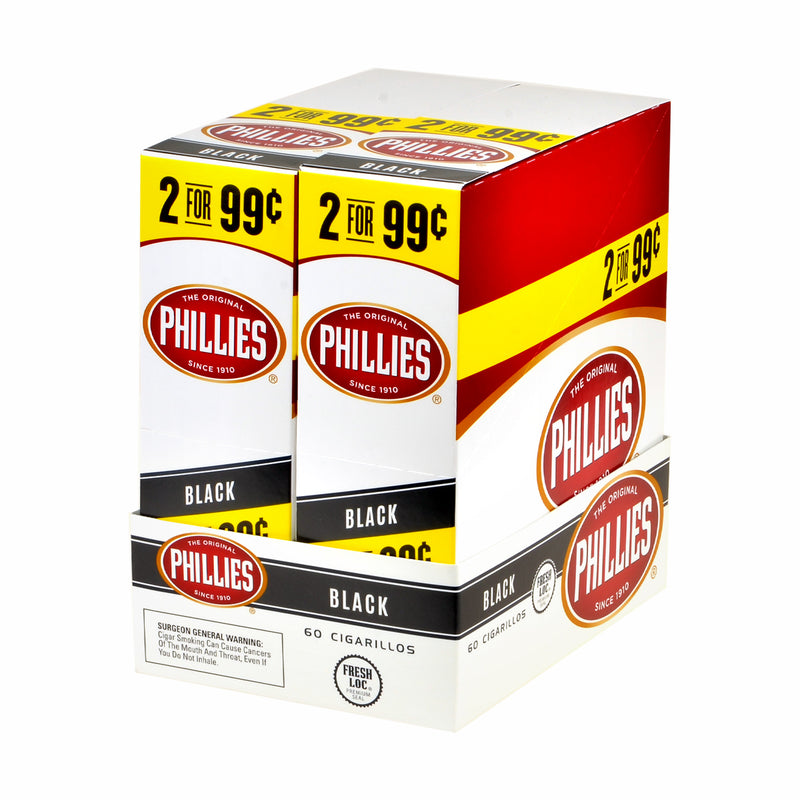 Phillies Cigarillos 2x$0.99 Black 30 Pouches of 2