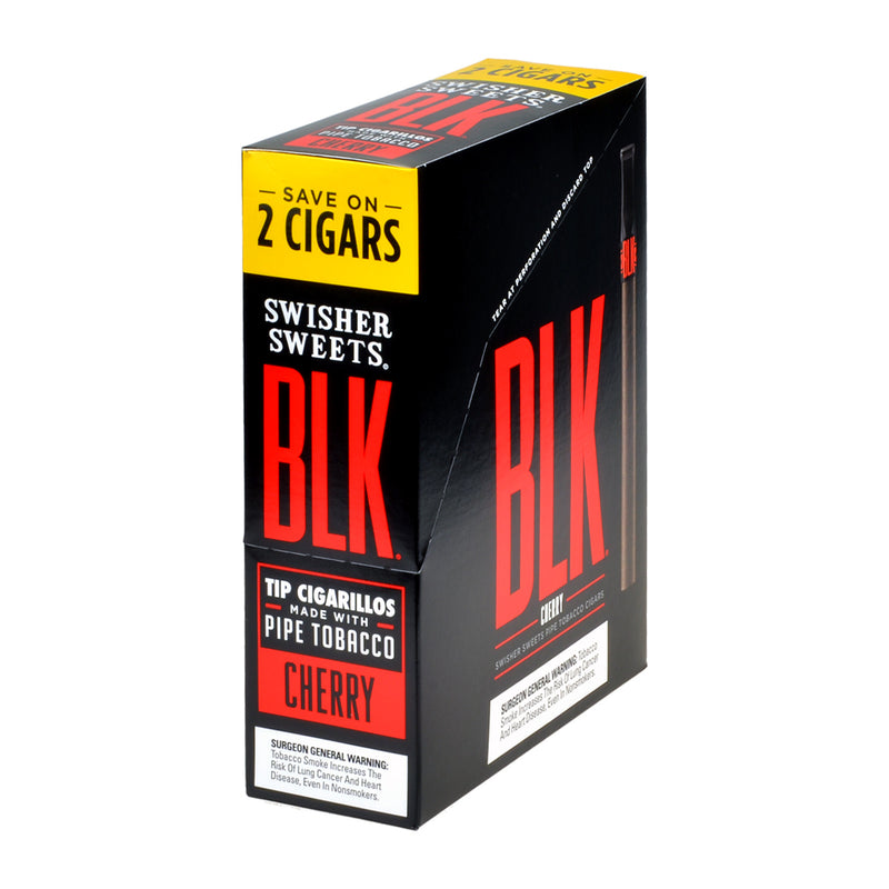 Swisher Sweets BLK Tip Cigarillos 15 pouches of 2 Cherry