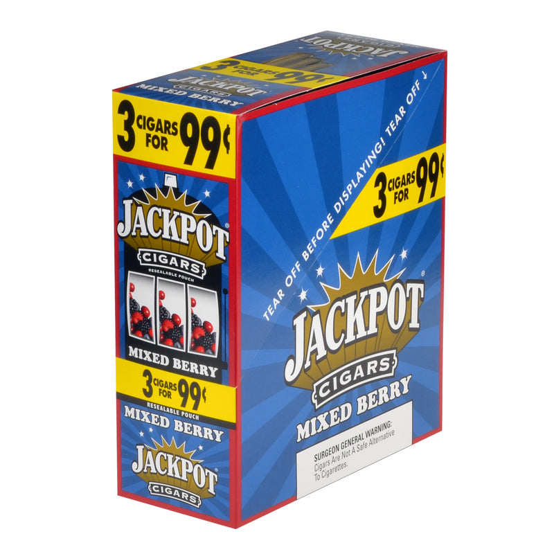 Jackpot Cigarillos Mixed Berry 99 Cents Pre Priced 15 Pouches of 3