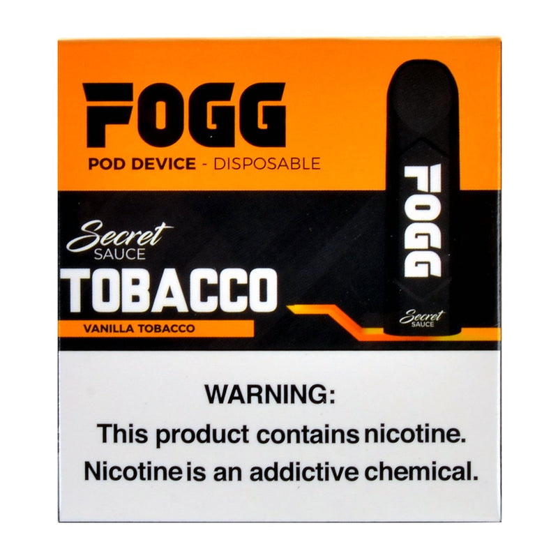 FOGG Disposable Pod Device Pack of 3 Vanilla Tobacco