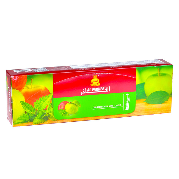 Al Fakher Double Apple With Mint Hookah Shisha 10 Packs of 50g
