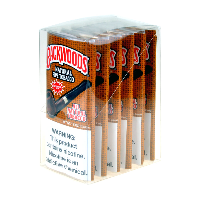 Backwoods Pipe Tobacco Buttered Rum 1.5 Oz Pack of 6
