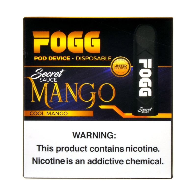 FOGG Disposable Pod Device Pack of 3 Cool Mango