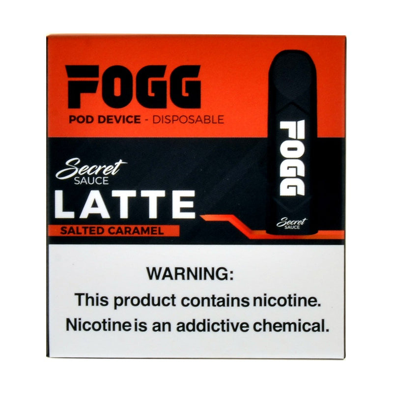FOGG Disposable Pod Device Pack of 3 Latte Salted Caramel