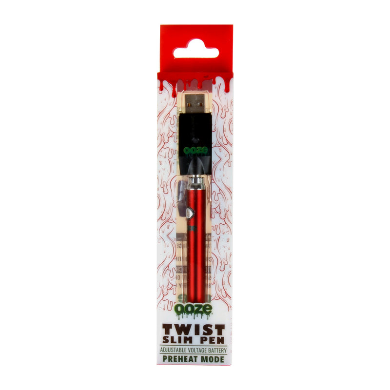 Ooze Twist Slim Pen Battery 320 mAh Red