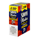 Show Master Natural Leaf Cigarillos 99 Cent Pre Priced 15 Packs of 3 Cigars Blue Goo