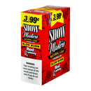 Show Master Natural Leaf Cigarillos 99 Cent Pre Priced 15 Packs of 3 Cigars Red Gummy