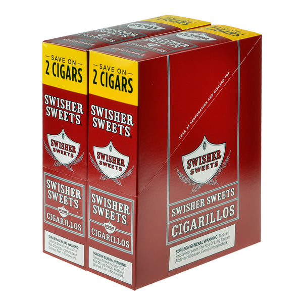 Swisher Sweets Cigarillos 30 Packs of 2 Cigars Regular