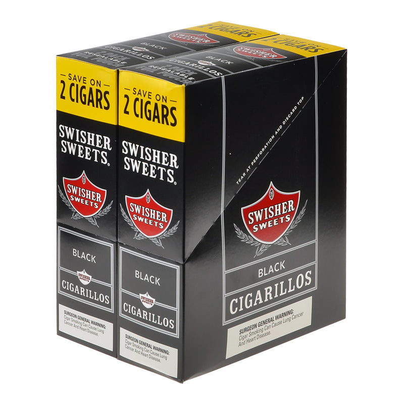 Swisher Sweets Cigarillos 30 Packs of 2 Cigars Black