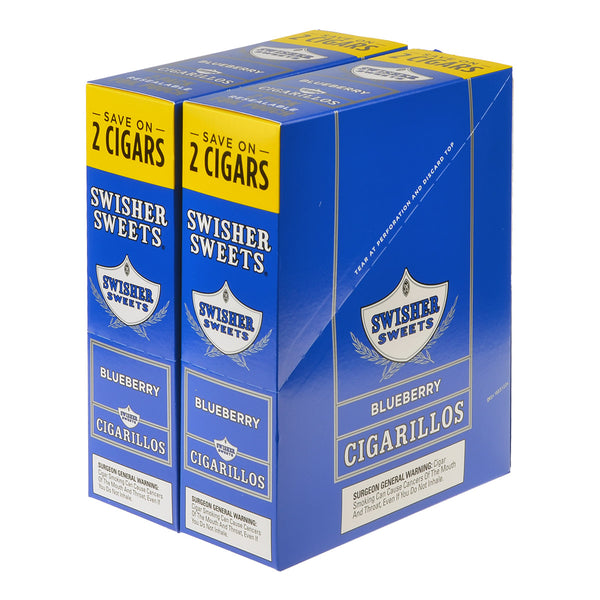 Swisher Sweets Cigarillos 30 Packs of 2 Cigars Blueberry