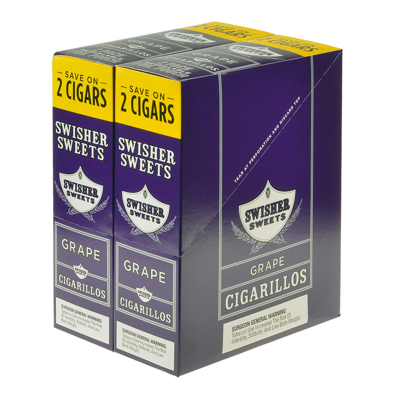 Swisher Sweets Cigarillos 30 Packs of 2 Cigars Grape