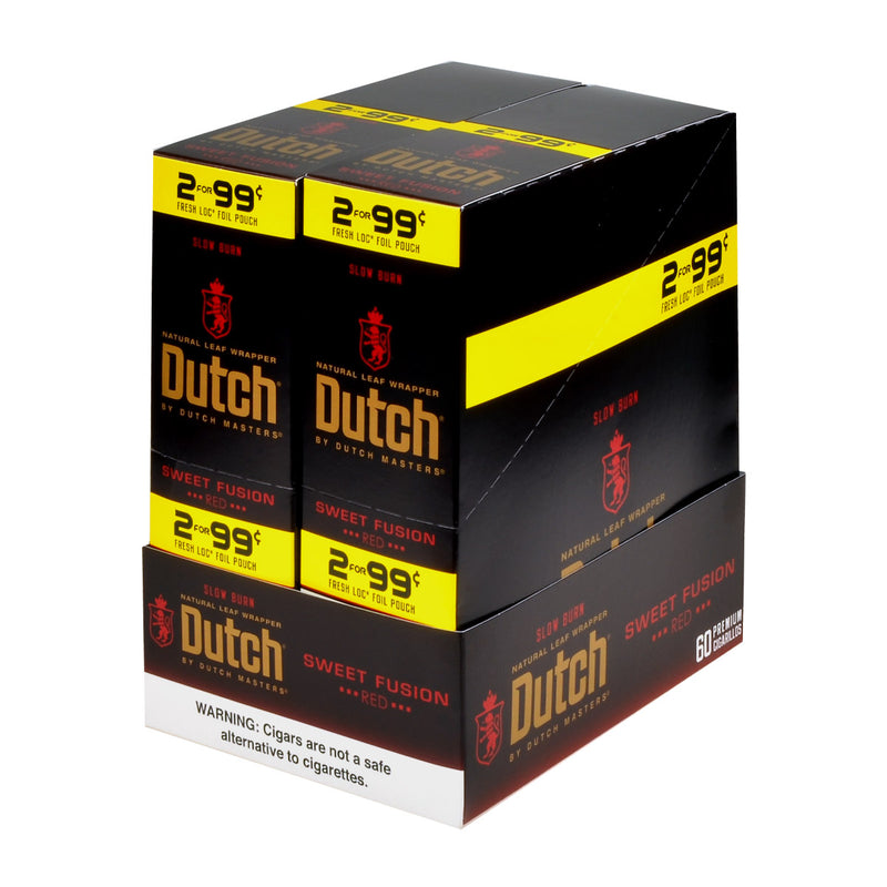 Dutch Masters Foil Fresh Sweet Fusion 99 Cent Cent Cigarillos 30 Packs of 2