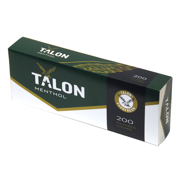 Talon Menthol Filtered Cigars 10 Packs of 20