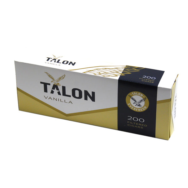 Talon Vanilla Filtered Cigars 10 Packs of 20