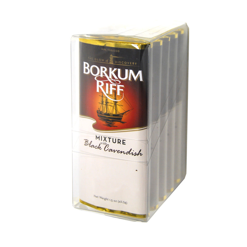Borkum Riff Black Cavendish Pipe Tobacco 5 Pockets of 1.5 oz.