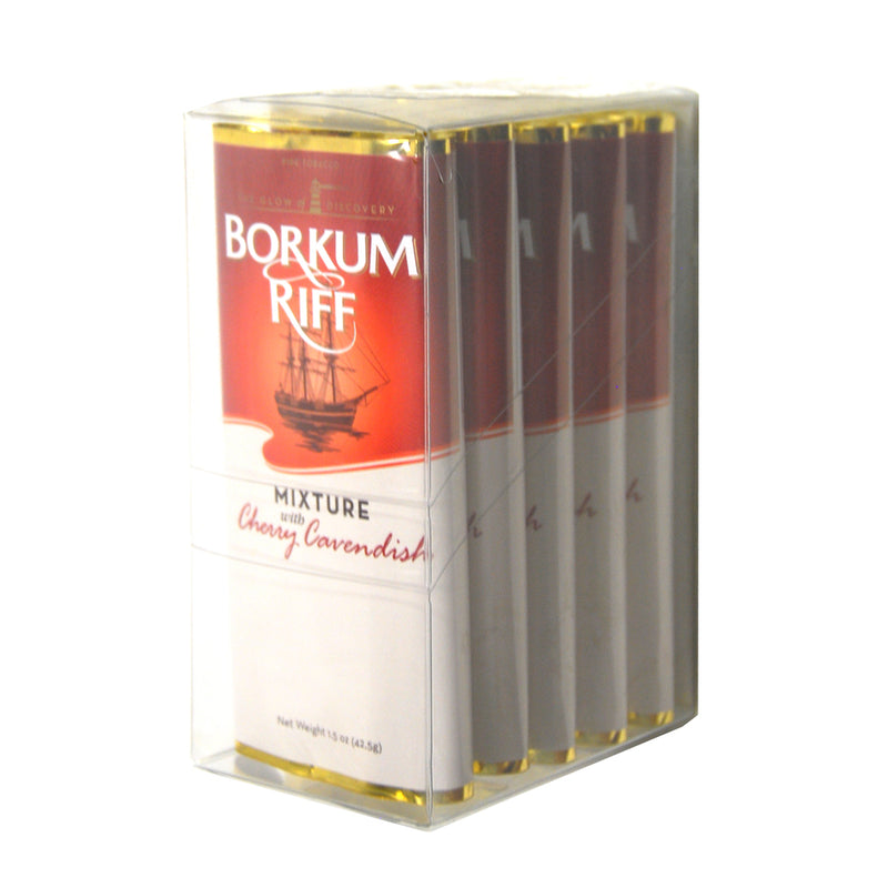 Borkum Riff Cherry Cavendish Pipe Tobacco 5 Pockets of 1.5 oz.