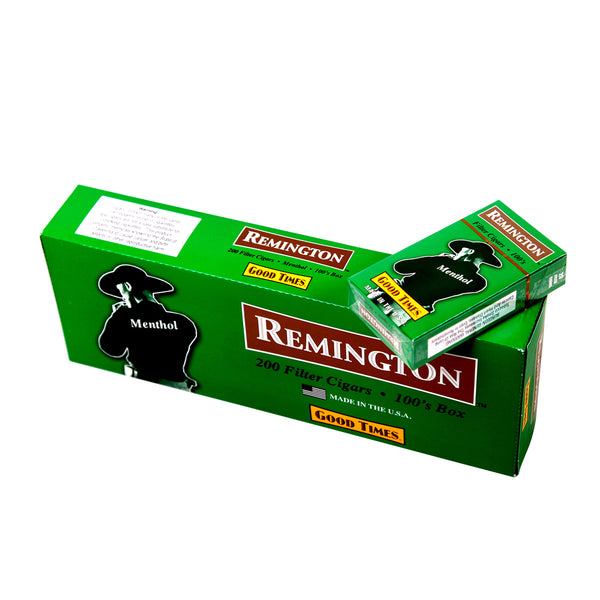 Remington Menthol Filtered Cigars 10 Packs of 20