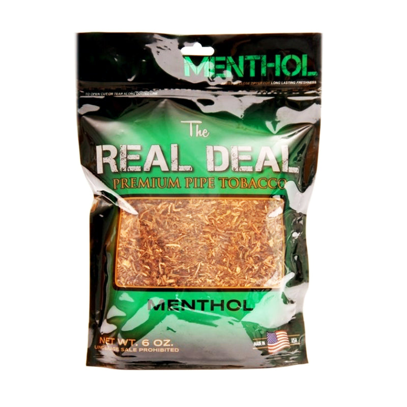 The Real Deal Menthol Pipe Tobacco 6 oz. Pack