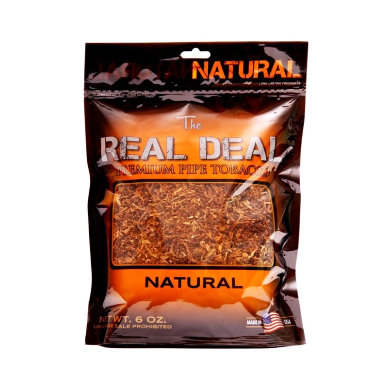 The Real Deal Natural Pipe Tobacco 6 oz. Pack