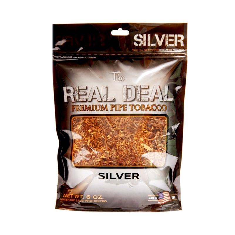 The Real Deal Silver Pipe Tobacco 6 oz. Pack