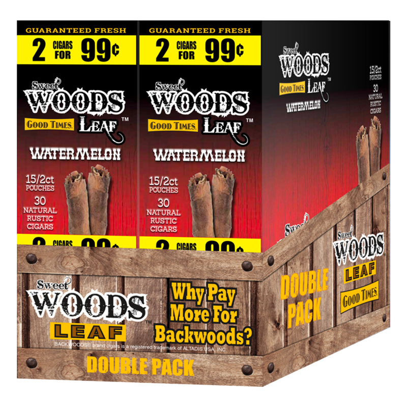 Good Times Sweet Woods 2 for 99¢ 30 Pouches of 2 Watermelon