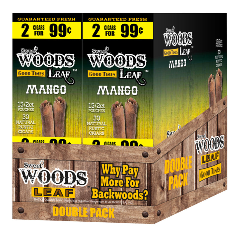 Good Times Sweet Woods 2 for 99¢ 30 Pouches of 2 Mango