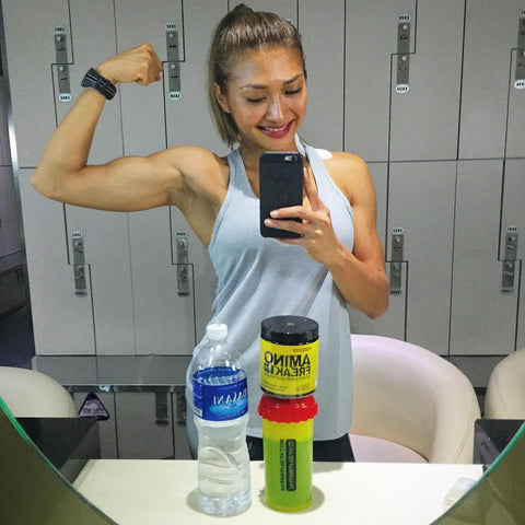 Check out Nana's biceps!