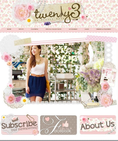twenty3 blogshop