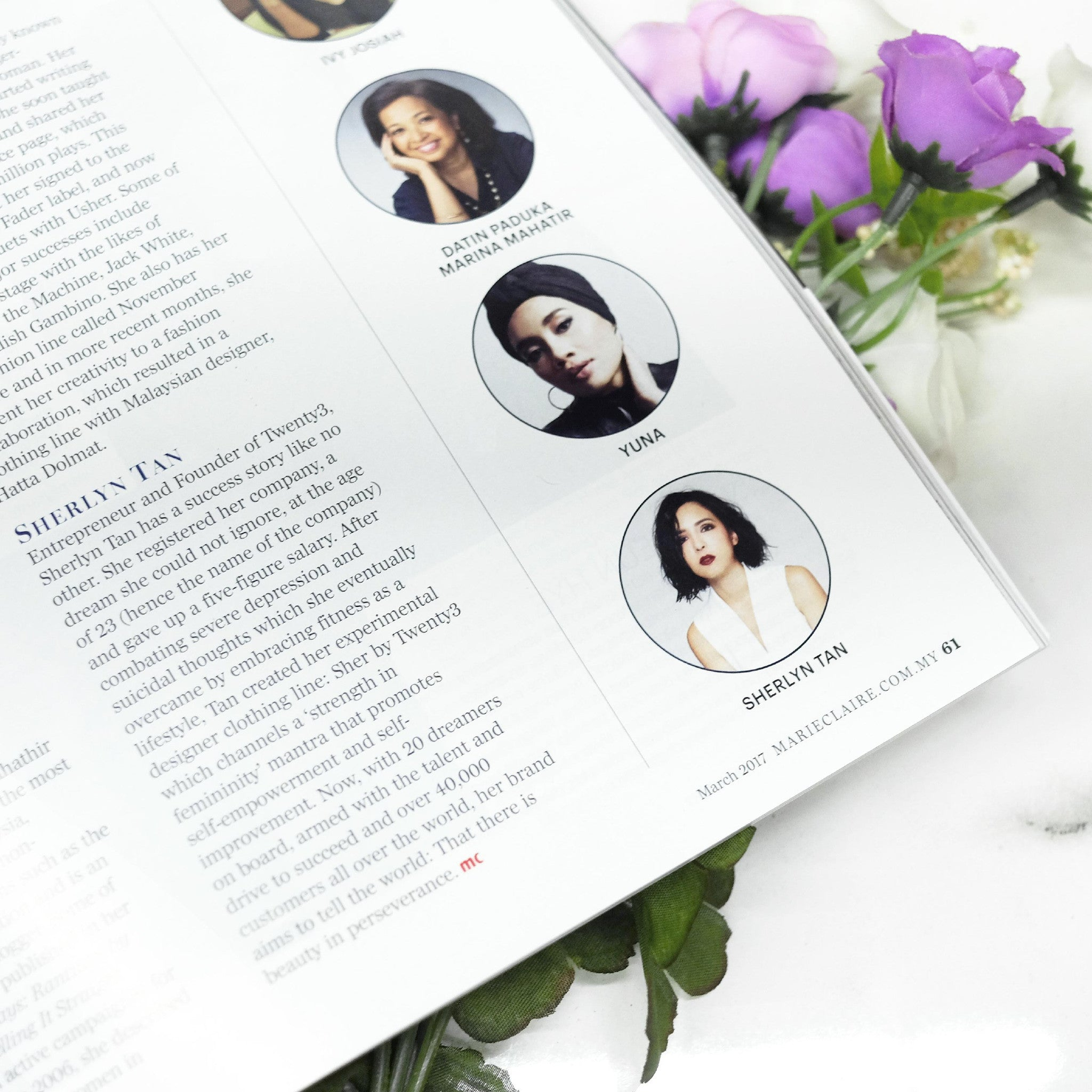 Sherlyn Tan in Marie Claire Magazine