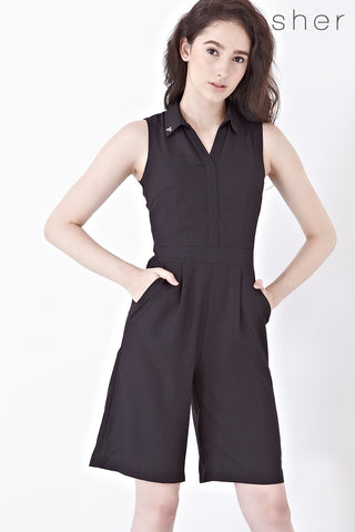 Twenty3 - Zoel Culottes Playsuit in Black -  - Romper - 1