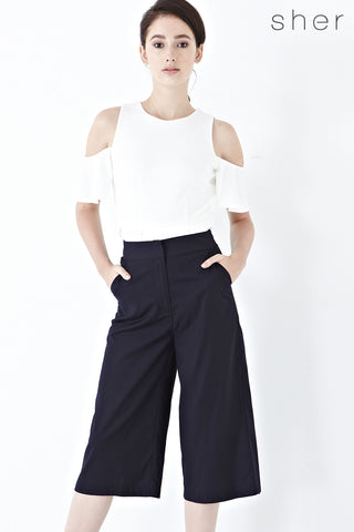 Twenty3 - Xandria Culottes in Navy Blue -  - Bottoms - 1