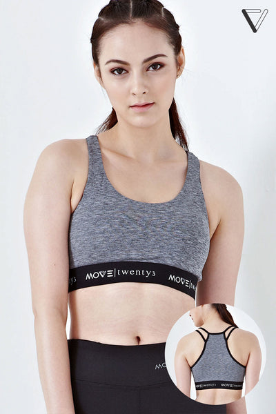 Twenty3 - Kara High Impact Sports Bra in Grey -  - Sports Bra - 1