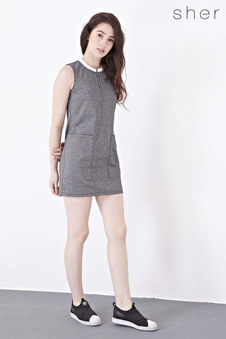 Twenty3 - Zoey Sleeveless Shift Dress in Dark Grey -  - Dresses - 1