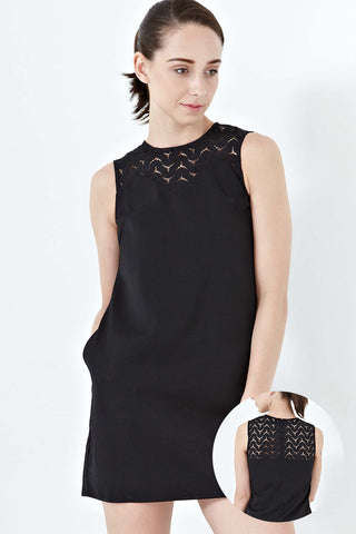 Twenty3 - Elva Lace Panel Shift Dress in Black -  - Dresses - 1