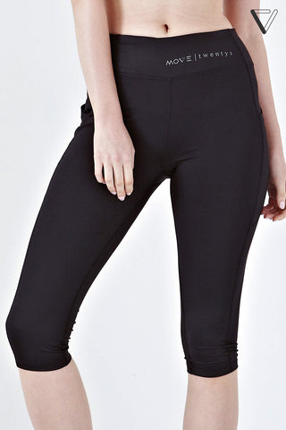 Twenty3 - Kayra High Waist Capri Leggings in Black -  - Sports Pants - 1